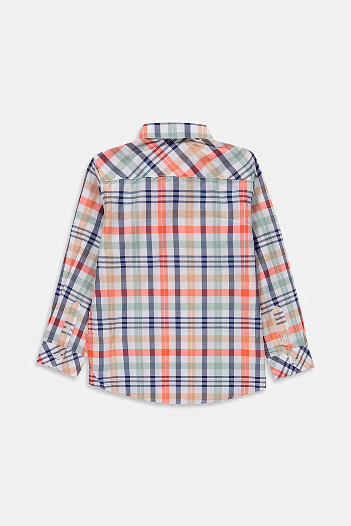 Check shirt in 100% cotton, WHITE, detail image number 1