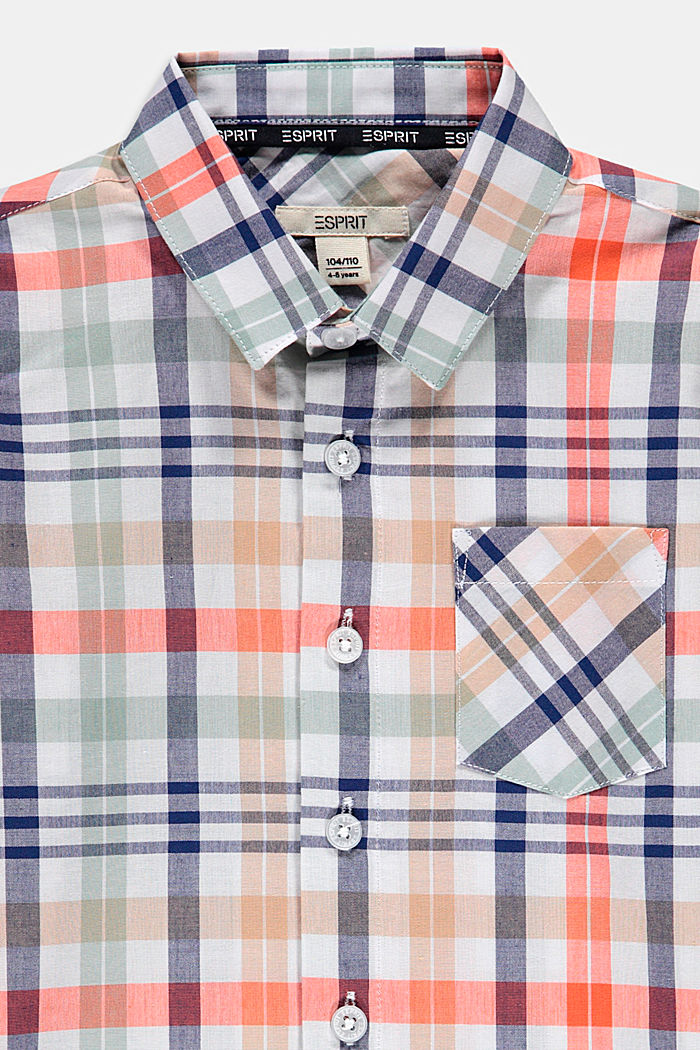 Check shirt in 100% cotton, WHITE, detail image number 2