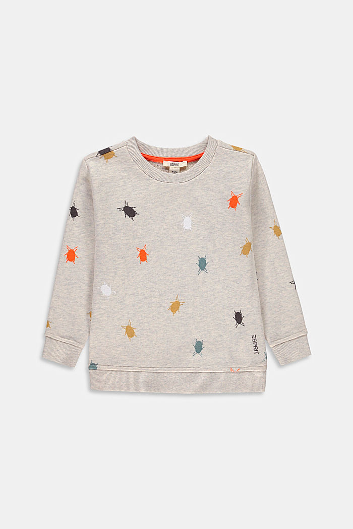 100% cotton sweatshirt with a beetle print, SILVER, detail image number 0