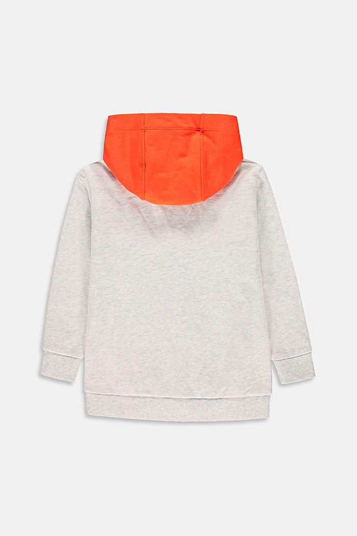 Sweat zippé à capuche, 100% coton