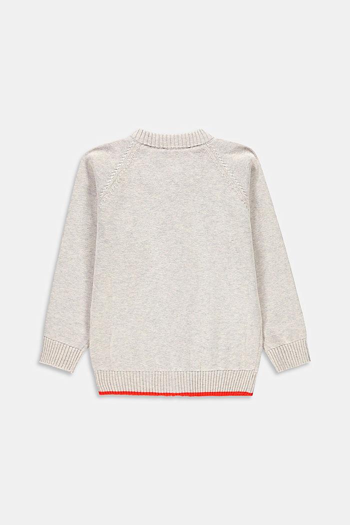Zipp-Cardigan aus 100% Baumwolle