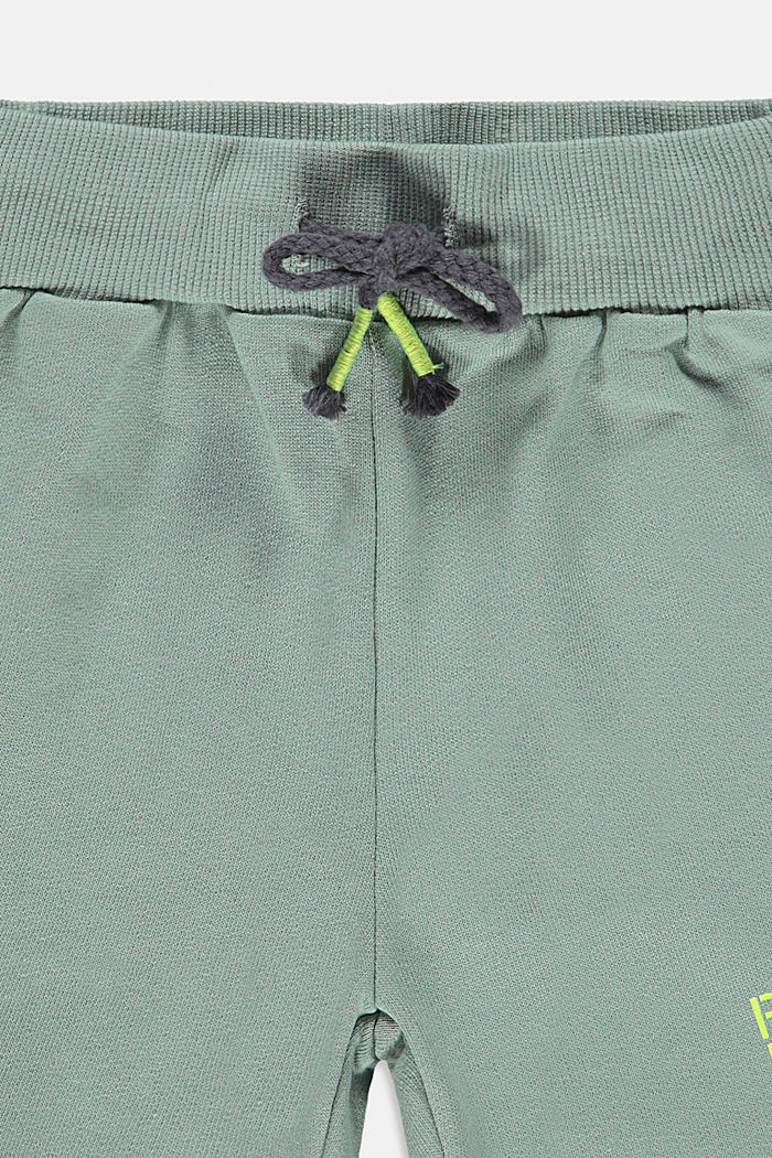 Sweat shorts with a print, 100% cotton, LIGHT KHAKI, detail image number 2