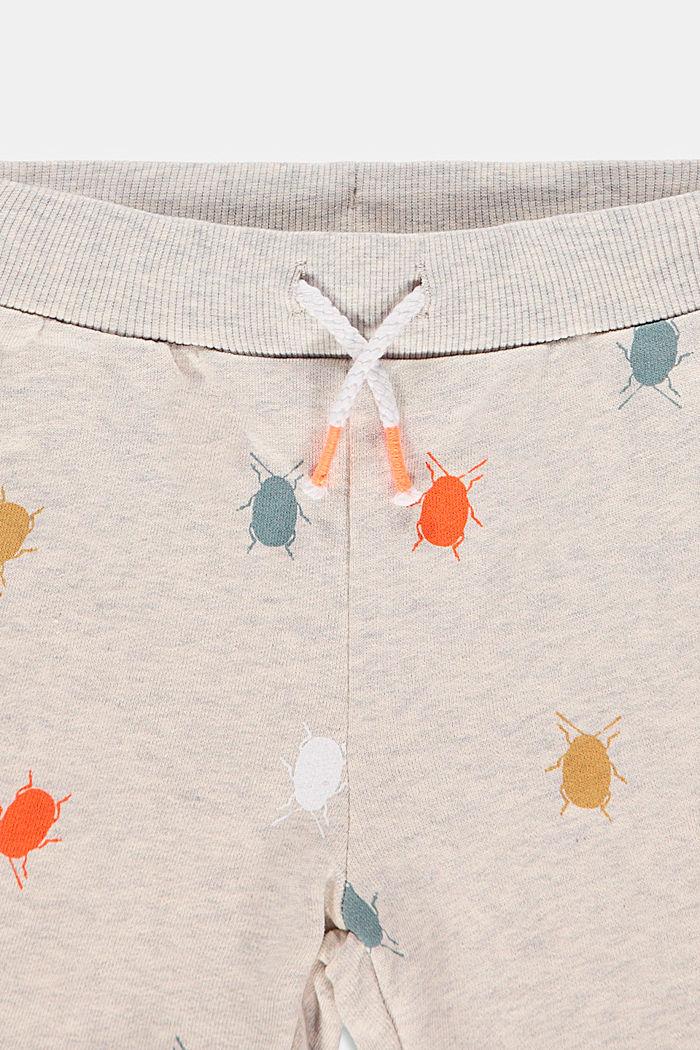 Sweatshort met keverprint, 100% katoen, SILVER, detail image number 2