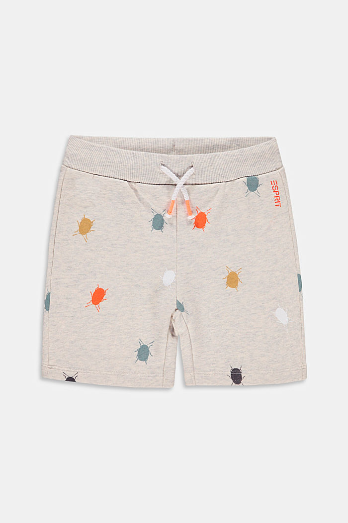 Sweatshirt shorts with a beetle print, 100% cotton