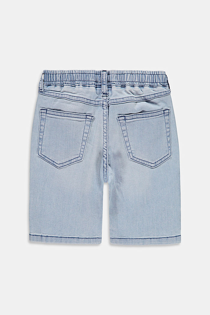 Slip-on denim shorts made of stretch cotton