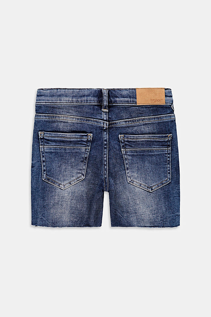 Jeans-Shorts im Used-Look mit Verstellbund
