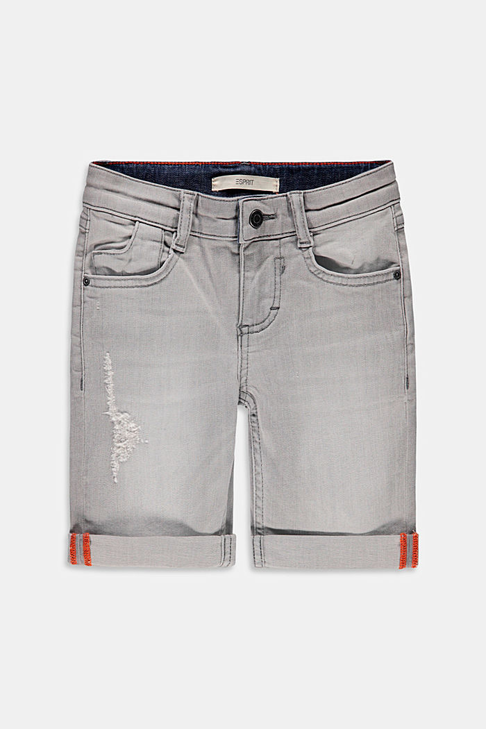 Denim Bermudas with an adjustable waistband
