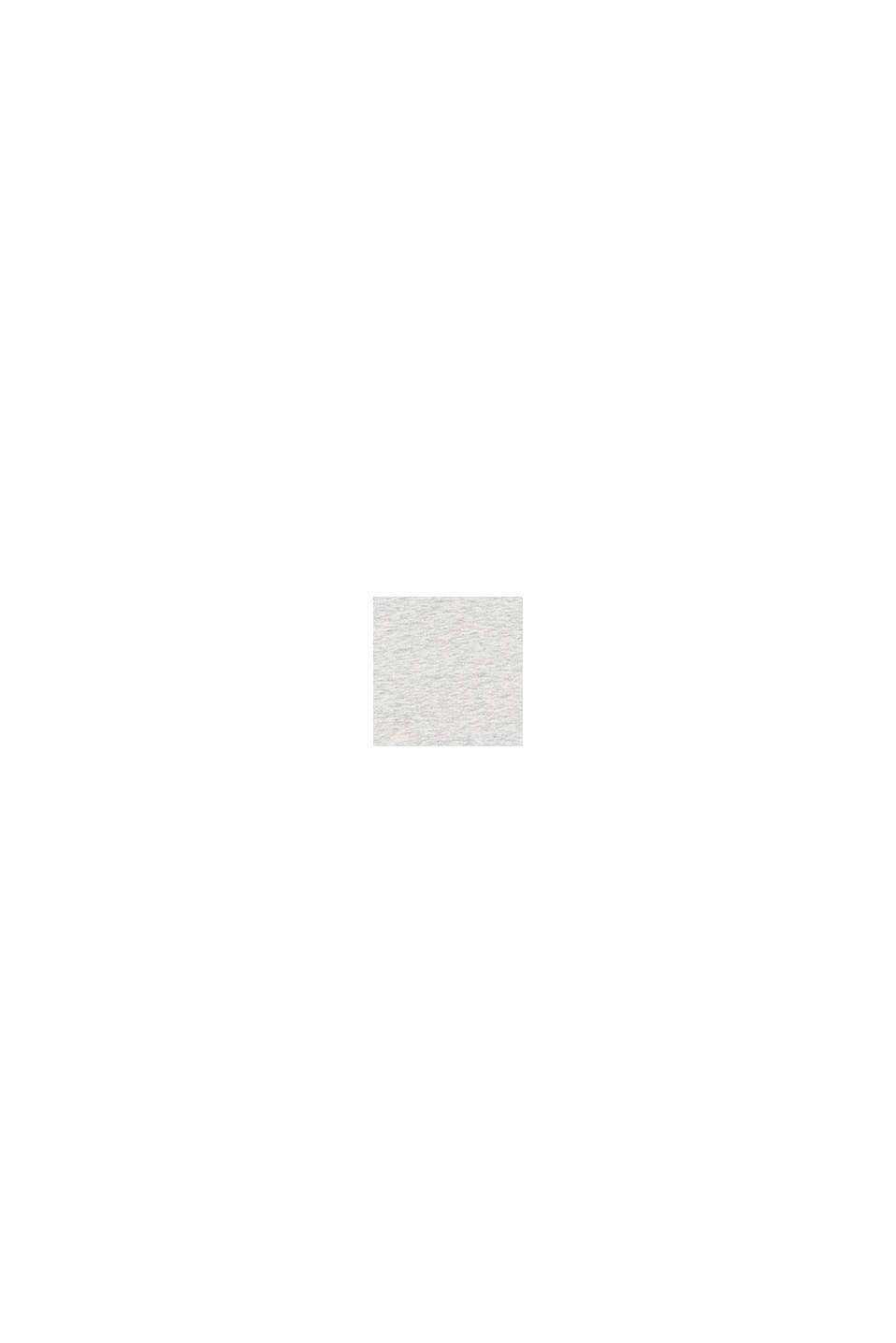 T-shirt chiné à message imprimé, SILVER, swatch