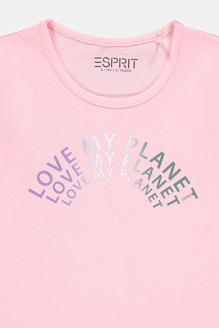 Melange T-shirt with a statement print, BLUSH, detail image number 2