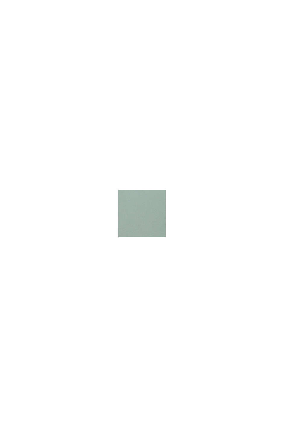 Maglia con stampa in cotone stretch, KHAKI GREEN, swatch