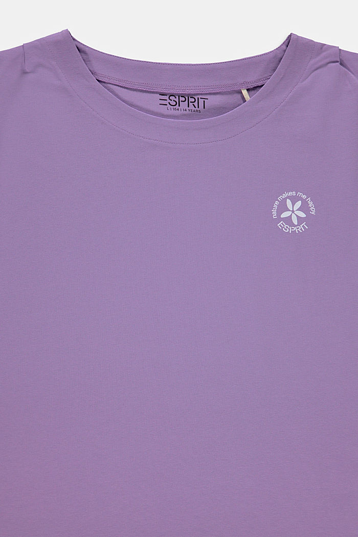 Print top in stretch cotton, LAVENDER, detail image number 2