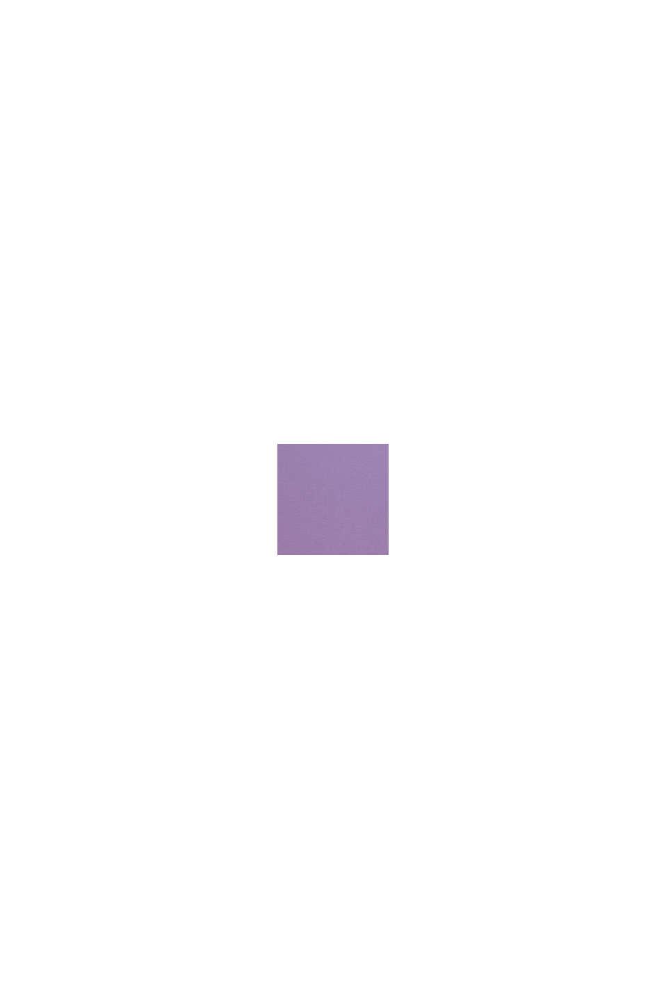 Maglia con stampa in cotone stretch, LAVENDER, swatch