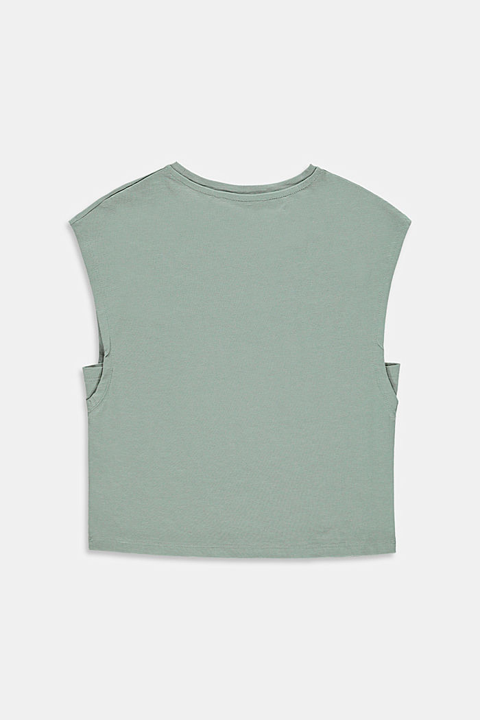 Boxy T-shirt made of 100% cotton, KHAKI GREEN, detail image number 1