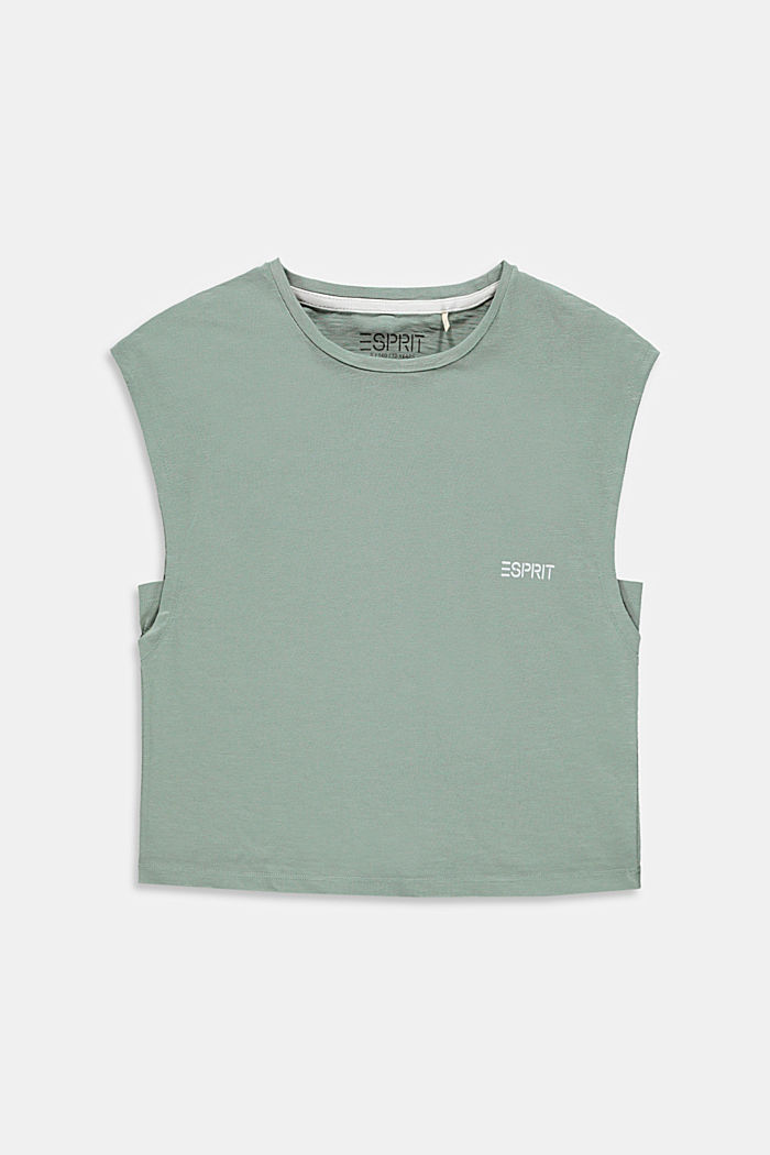 Boxy T-shirt made of 100% cotton, KHAKI GREEN, detail image number 0