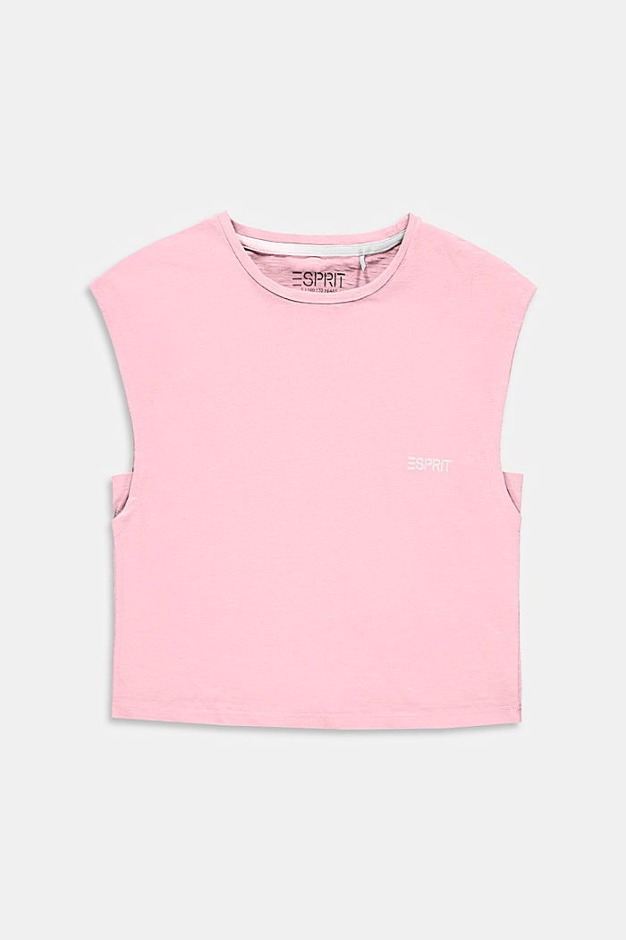 Boxy T-Shirt aus 100% Baumwolle, BLUSH, detail image number 0