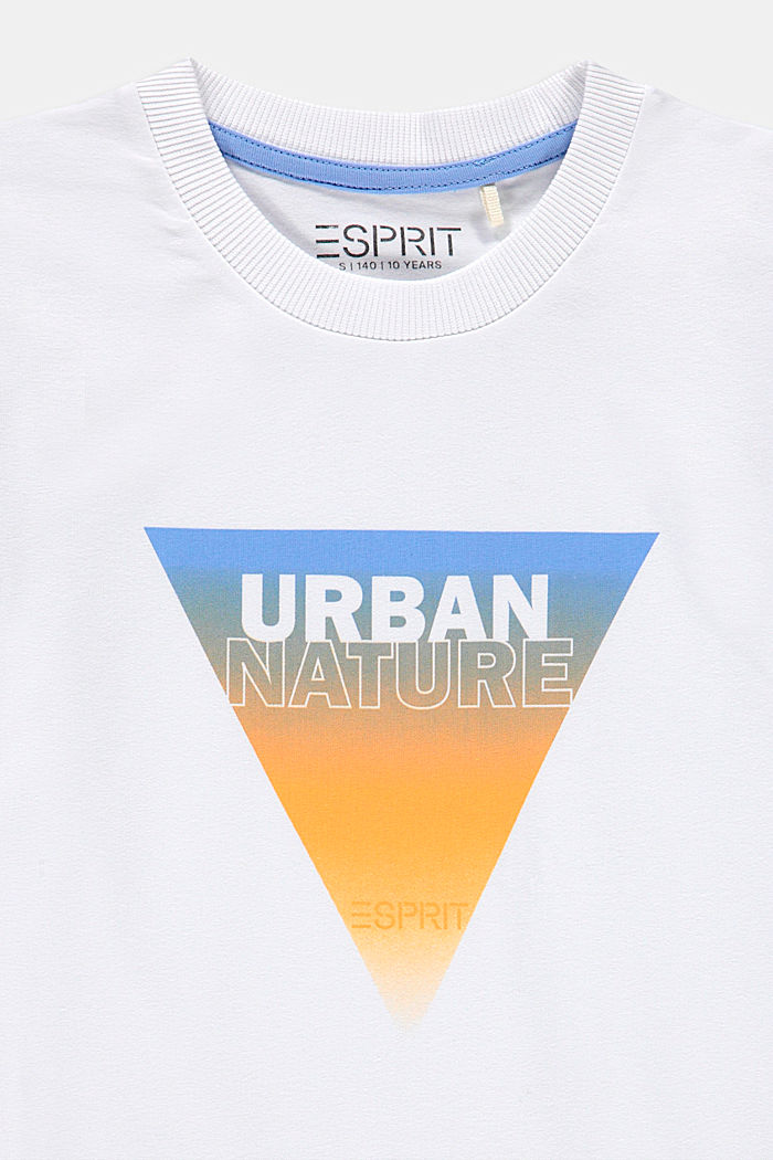 Camiseta con estampado, 100% algodón, WHITE, detail image number 2