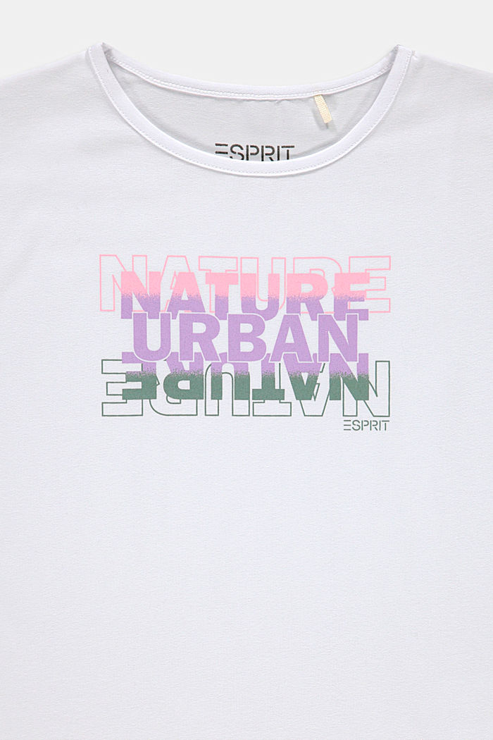 Printed T-shirt in stretch cotton, WHITE, detail image number 2