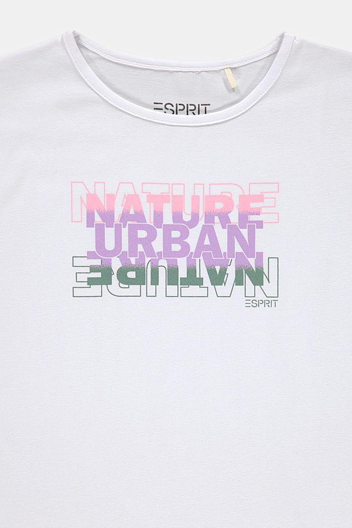 Printti-T-paita puuvillastretchiä, WHITE, detail image number 2