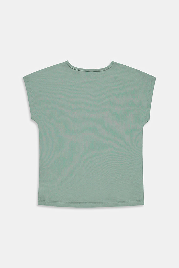 T-shirt imprimé en coton stretch