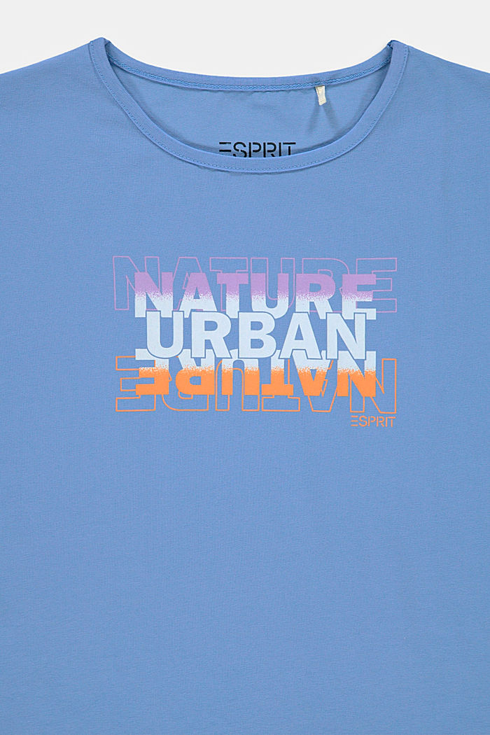 Printed T-shirt in stretch cotton, LIGHT BLUE LAVENDER, detail image number 2