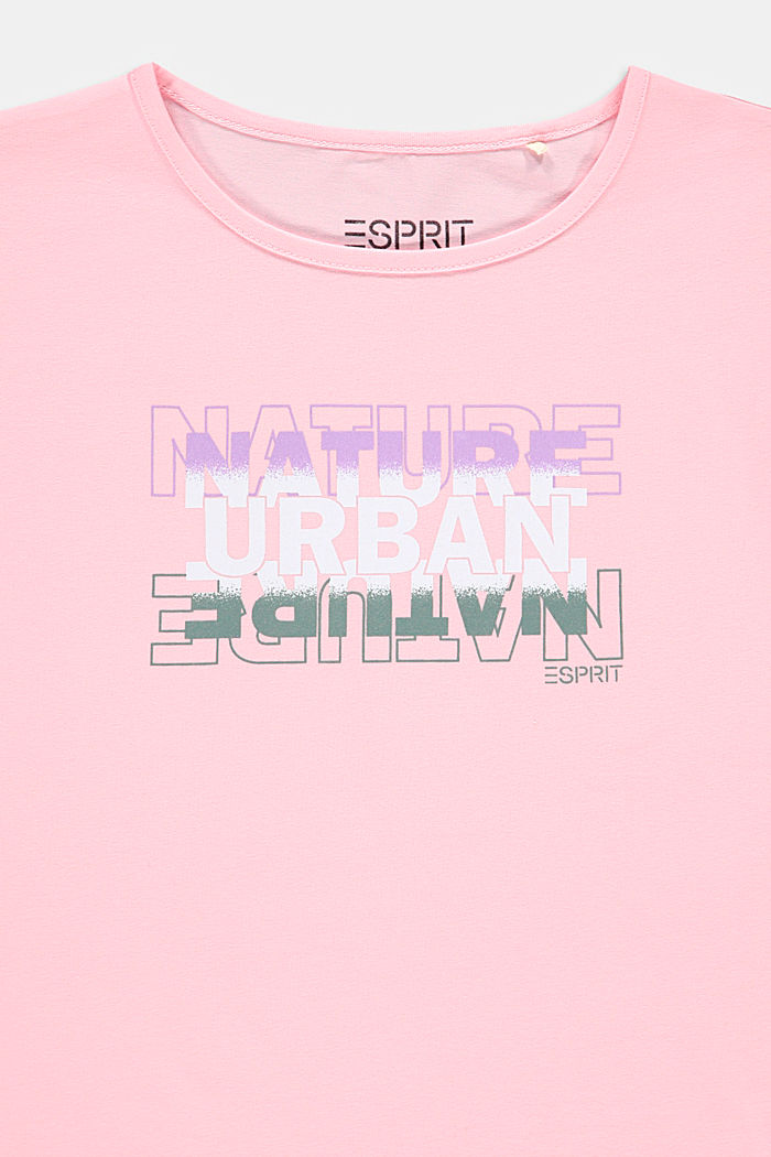 Potištěné tričko z bavlny-streče, BLUSH, detail image number 2