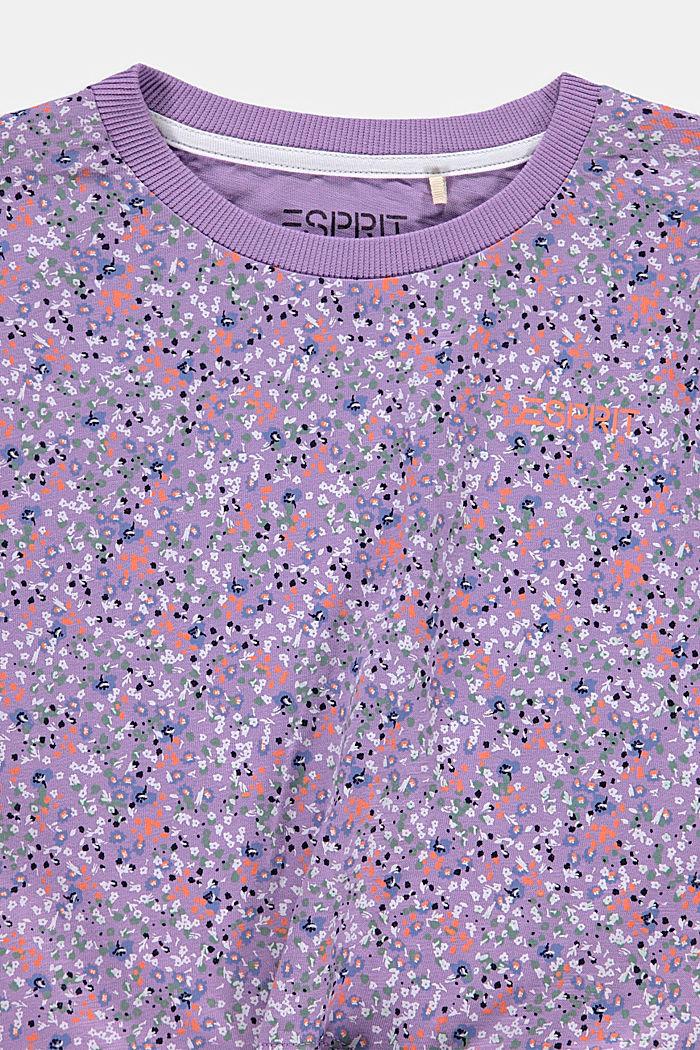 Tričko s drobnými kvítky a s uzlem, LAVENDER, detail image number 2