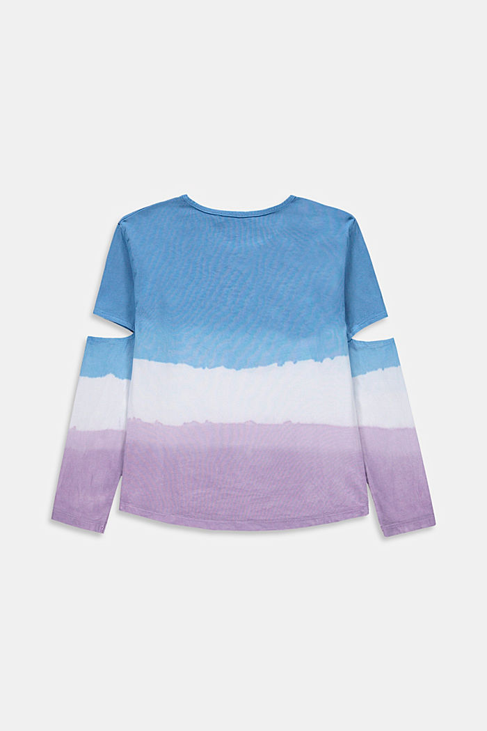 Long sleeve top in a dip-dye look with cut-outs