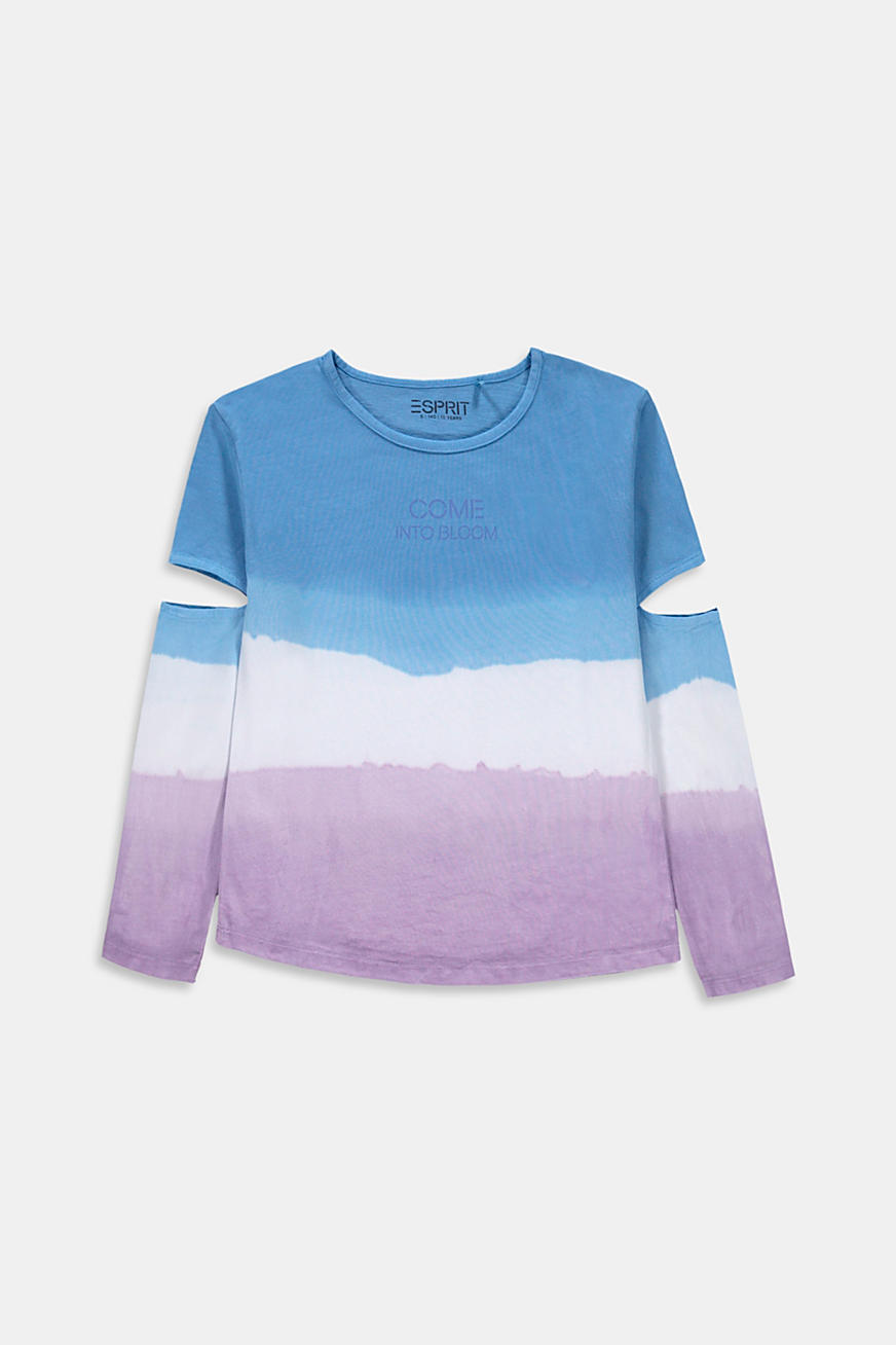 Longsleeve in dip-dye-look met cut-outs