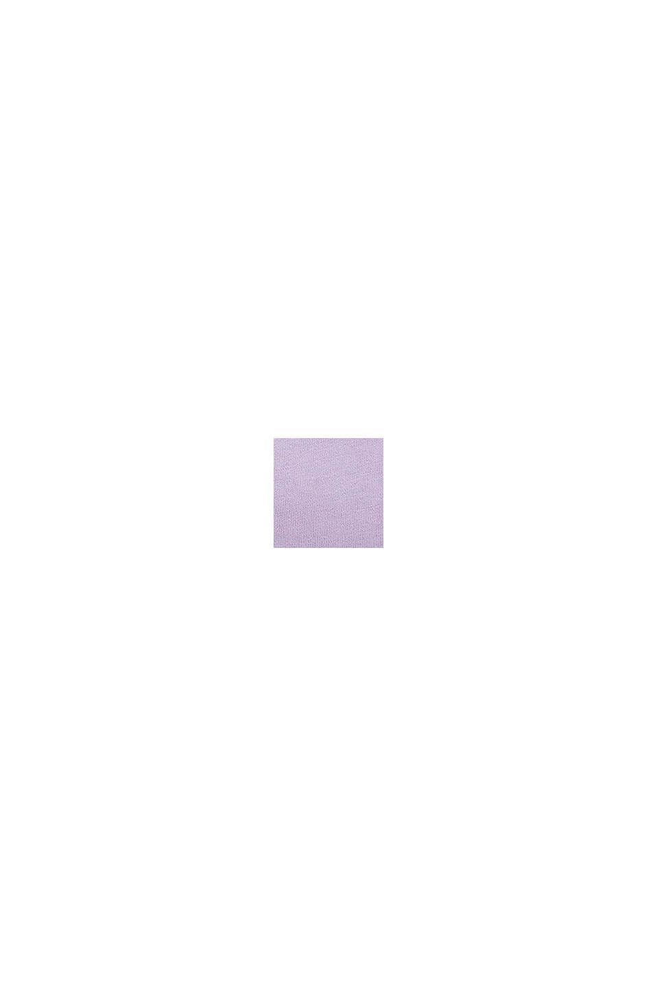 Maglia a manica lunga con effetto dip-dye e intagli, LAVENDER, swatch