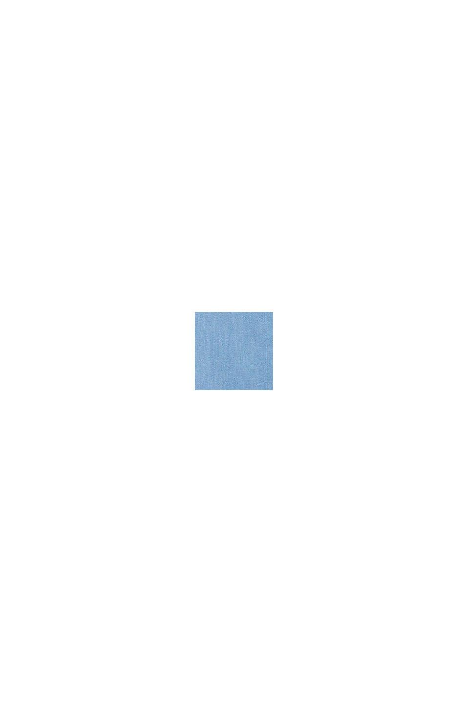 Bluse mit Knoten-Detail aus Sommer-Denim, BLUE LIGHT WASHED, swatch