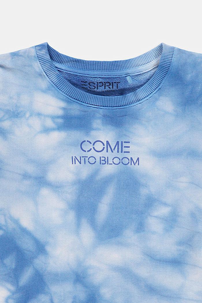 Cropped Oversize-Sweatshirt im Batik-Look, LIGHT BLUE LAVENDER, detail image number 2