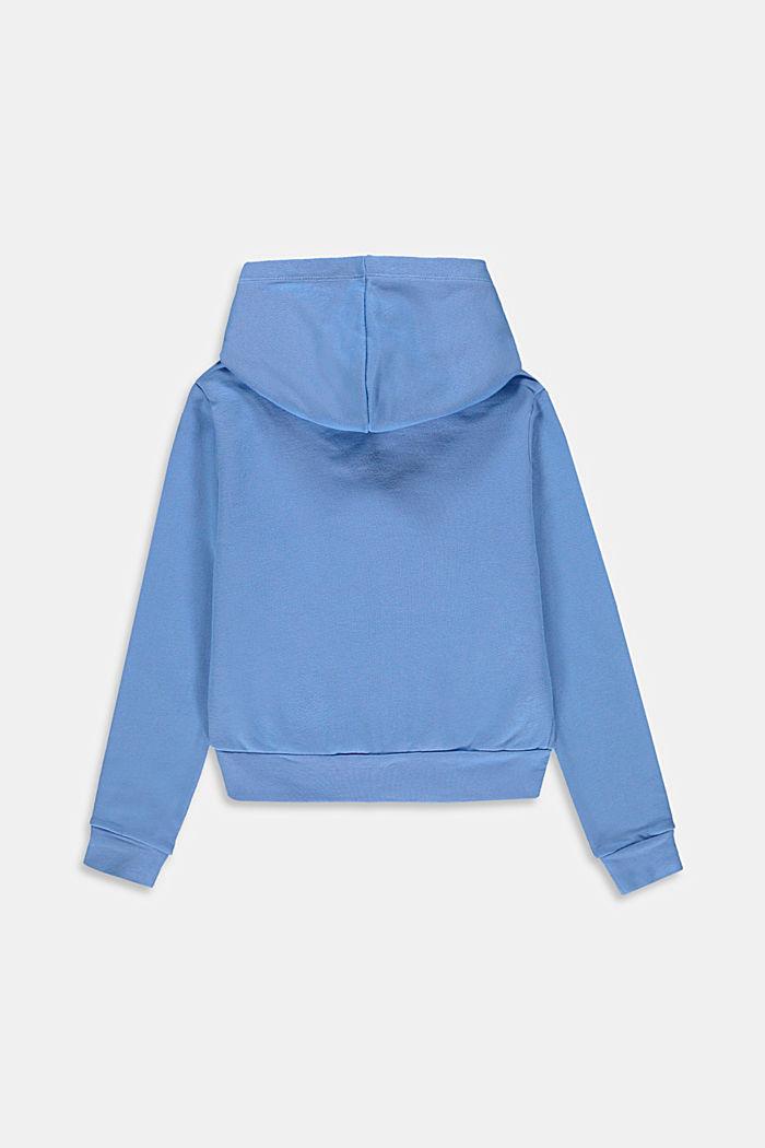 Cropped Sweat-Jacke aus 100% Baumwolle