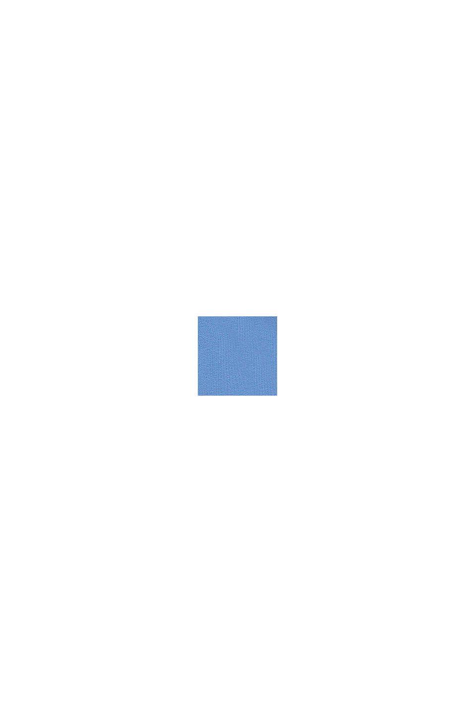 Skrócona bluza z dzianiny dresowej, 100% bawełny, LIGHT BLUE LAVENDER, swatch