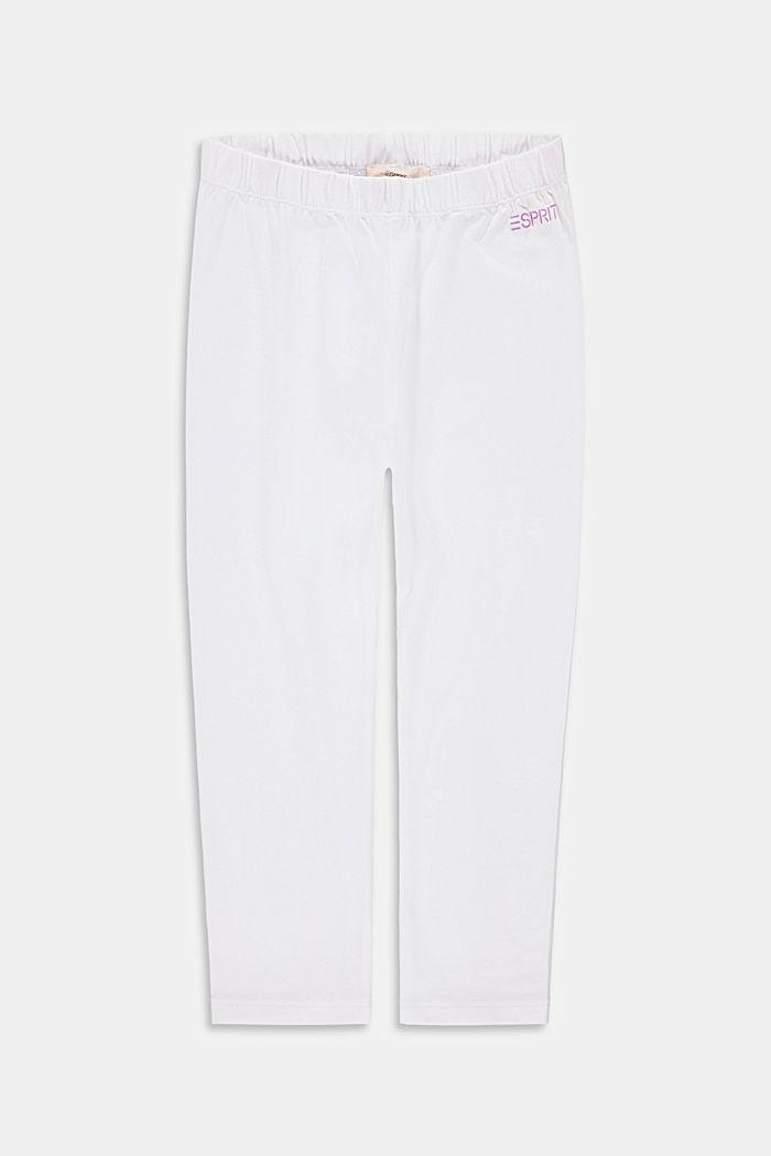 Capri-length leggings, WHITE, detail image number 0
