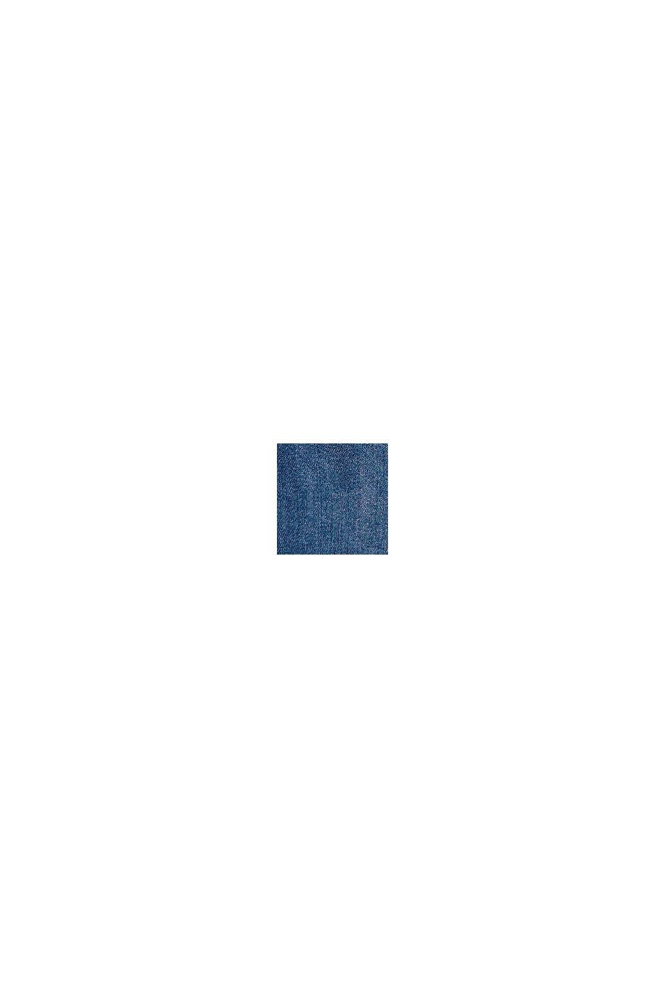 Vaqueros cortos con cintura elástica estilo paper bag, BLUE MEDIUM WASHED, swatch