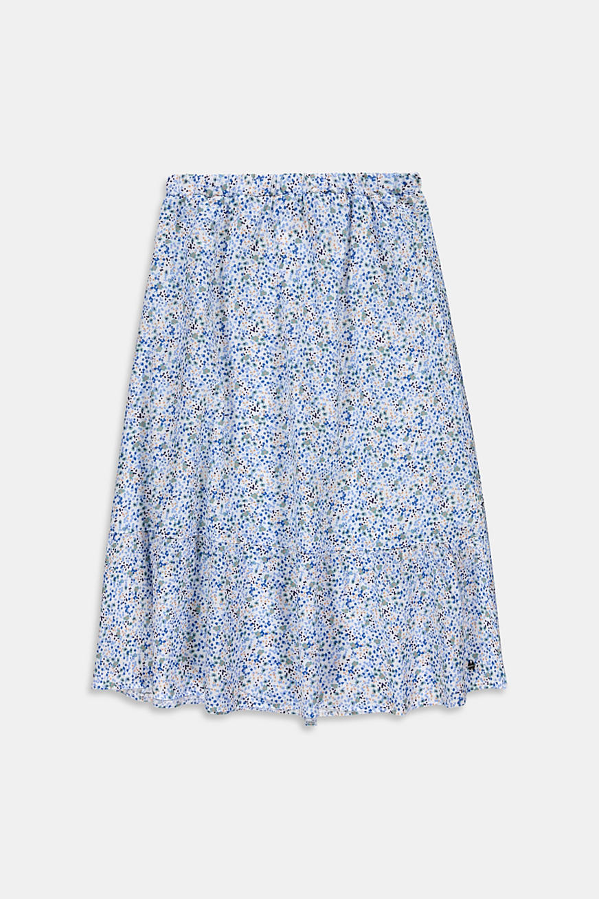 Mille-fleurs midi skirt made of 100% cotton