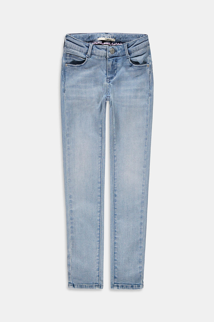 Cropped skinny jeans with an adjustable waistband