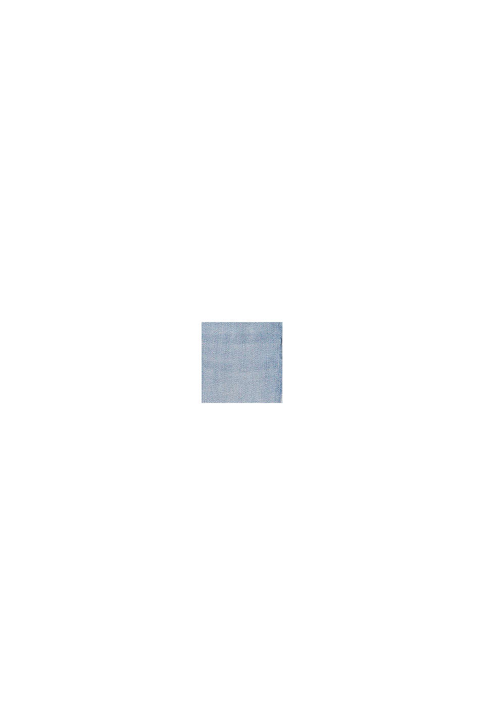 Vaqueros pitillo cropped con cintura ajustable, BLUE BLEACHED, swatch
