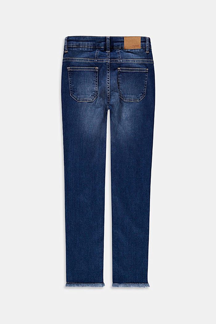 Cropped Jeans mit Fransensäumen