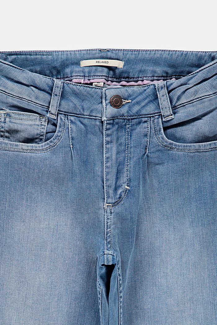 Rennot farkut, joissa säätövyötärö, BLUE LIGHT WASHED, detail image number 2
