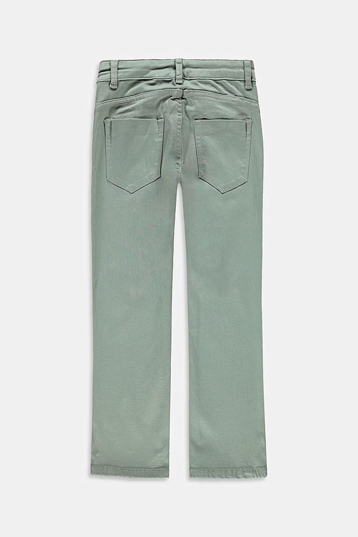 Pants denim, KHAKI GREEN, detail image number 1