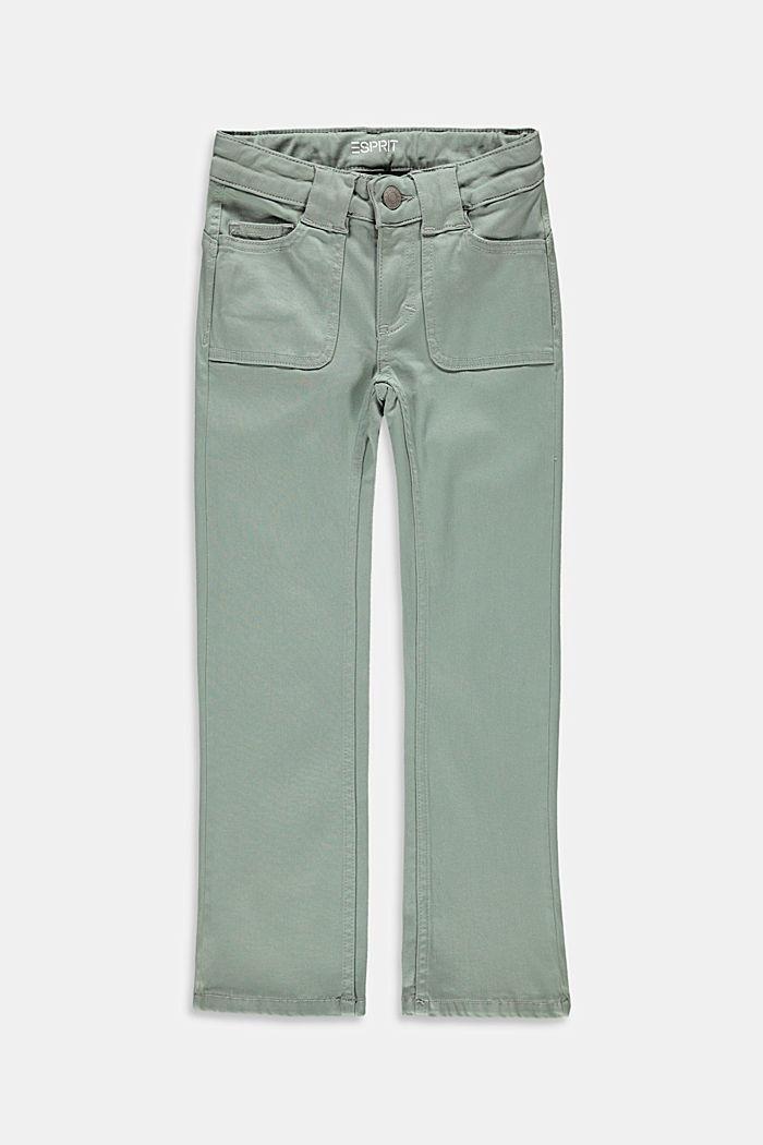 Schmale Jeans mit ausgestelltem Bein