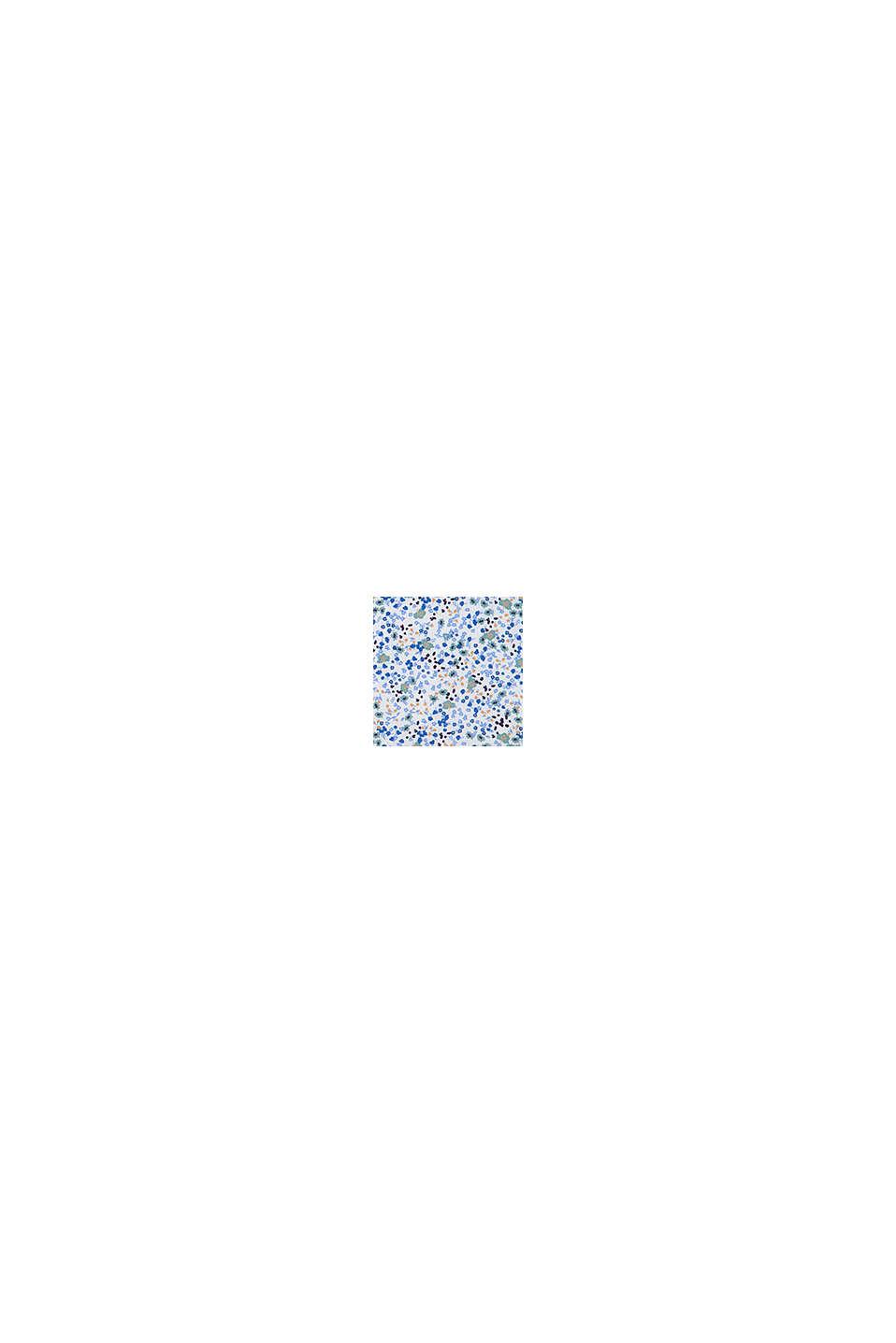 Maxi-jurk met bloemenprint, 100% katoen, WHITE, swatch