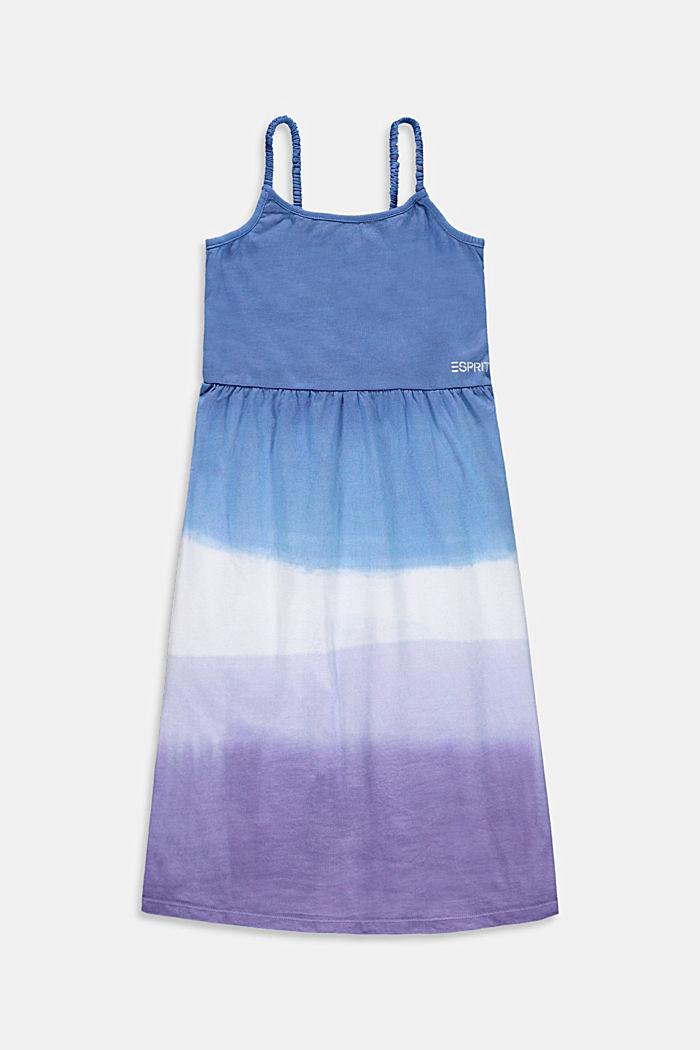Gesmoktes Jerseykleid im Dip-Dye-Look, LAVENDER, detail image number 0