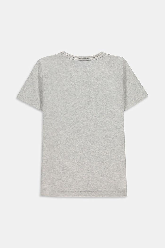 Print-T-Shirt aus 100% Baumwolle, SILVER, detail image number 1