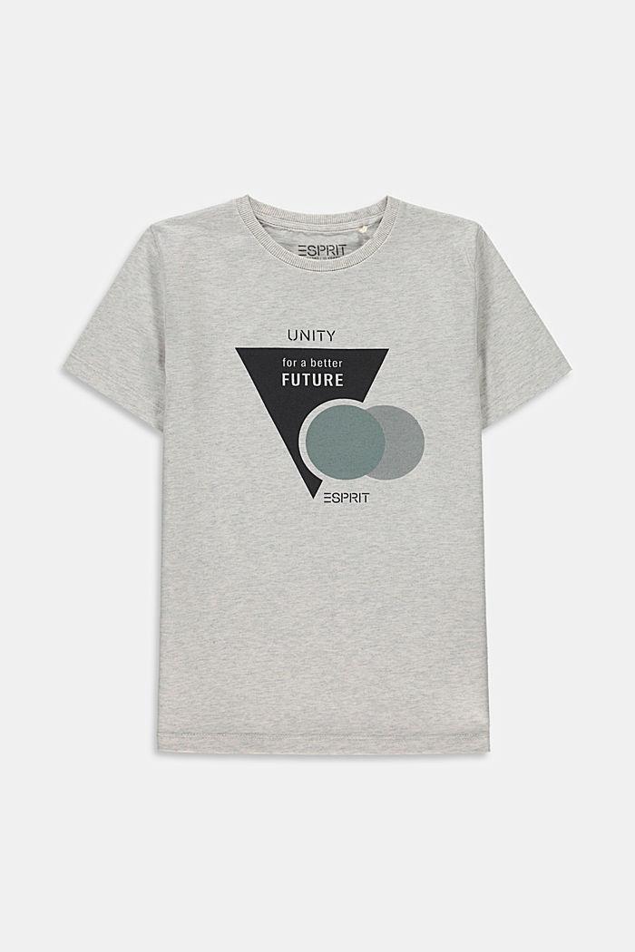 Print-T-Shirt aus 100% Baumwolle, SILVER, detail image number 0