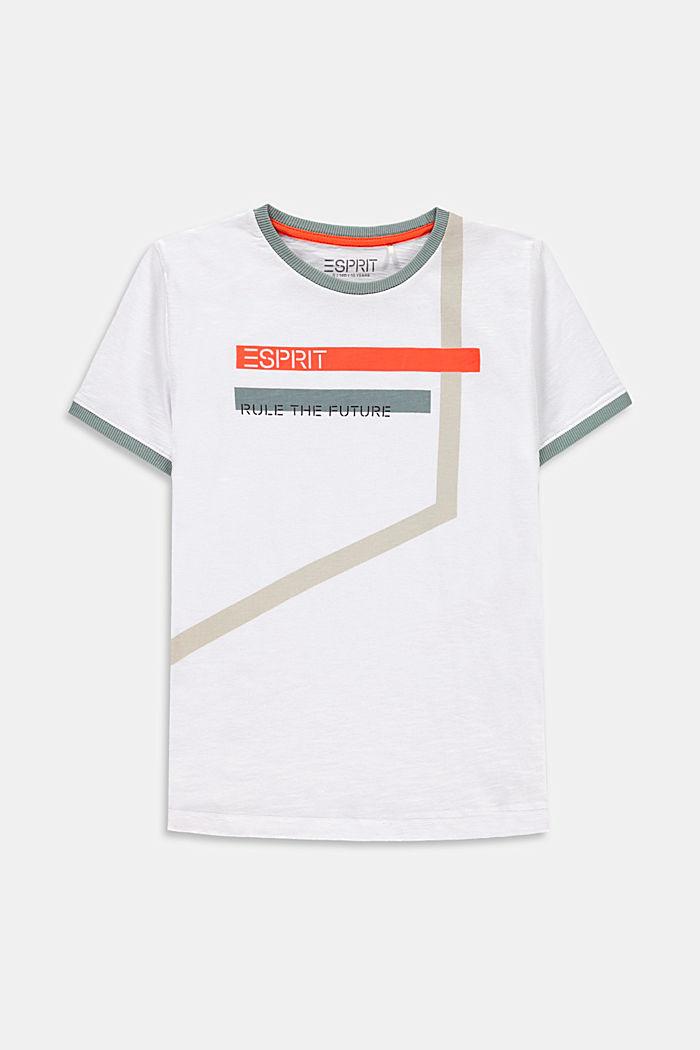 Camiseta con estampado geométrico, 100% algodón