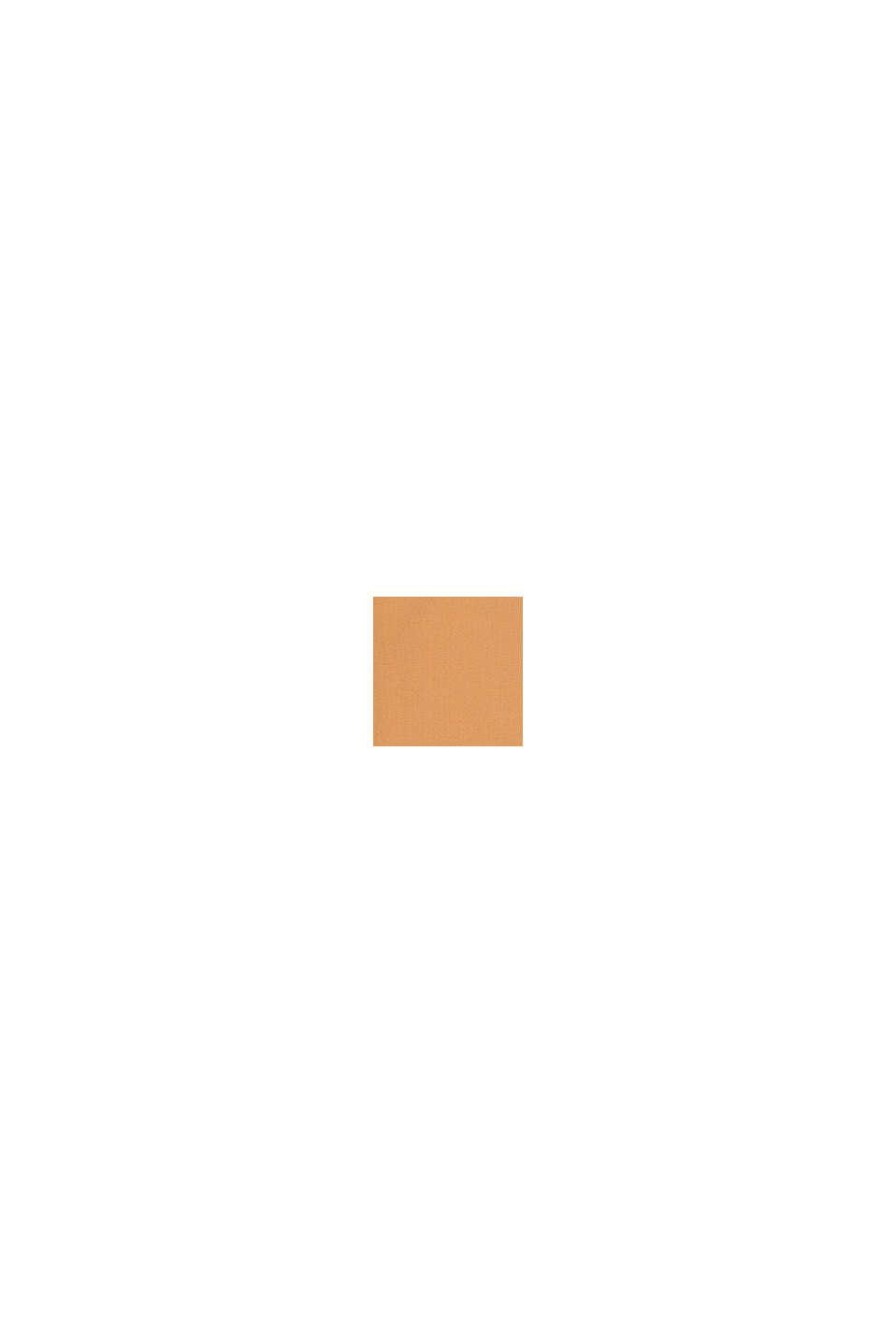 Camiseta en bloques de color con bolsillo , CARAMEL, swatch