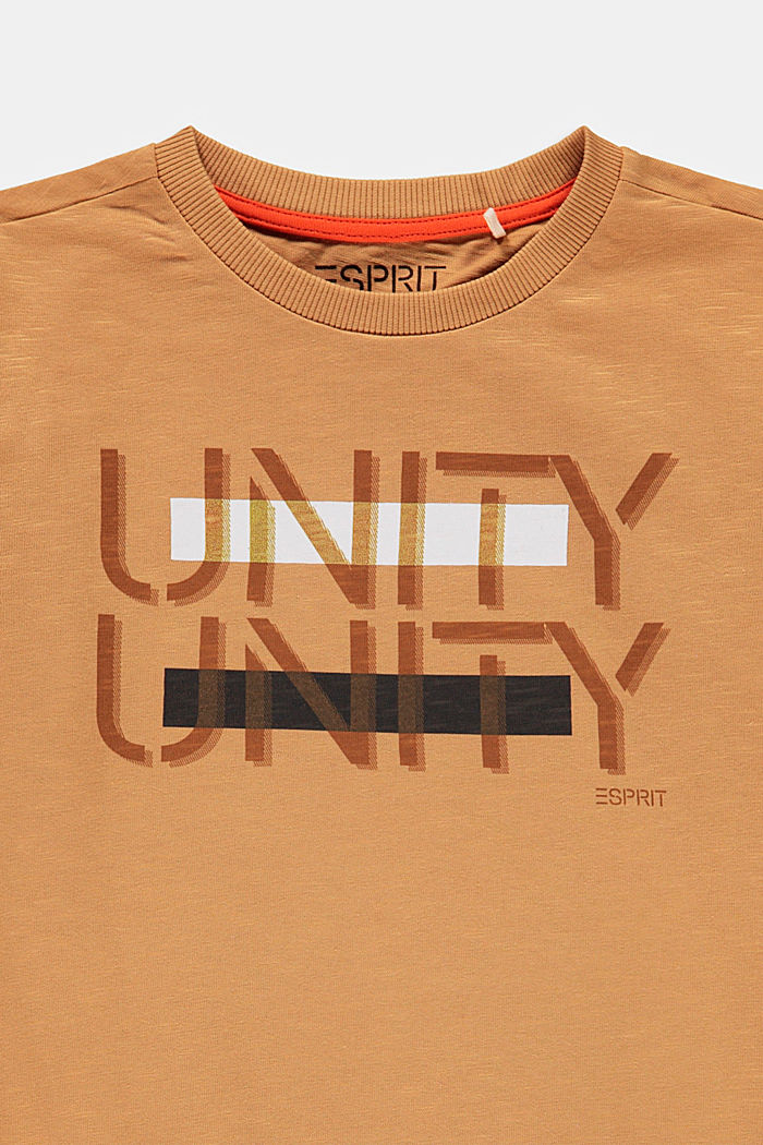 T-shirt à manches longues et imprimé, 100% coton, CARAMEL, detail image number 2