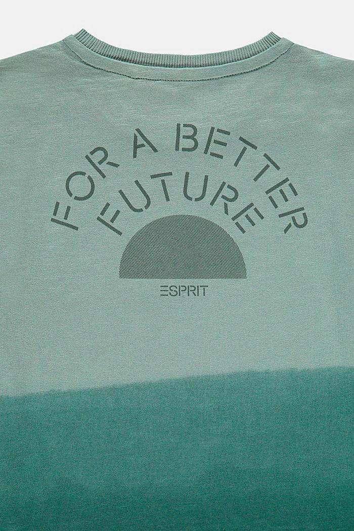 Dip-dye T-shirt, 100% cotton, LIGHT KHAKI, detail image number 2